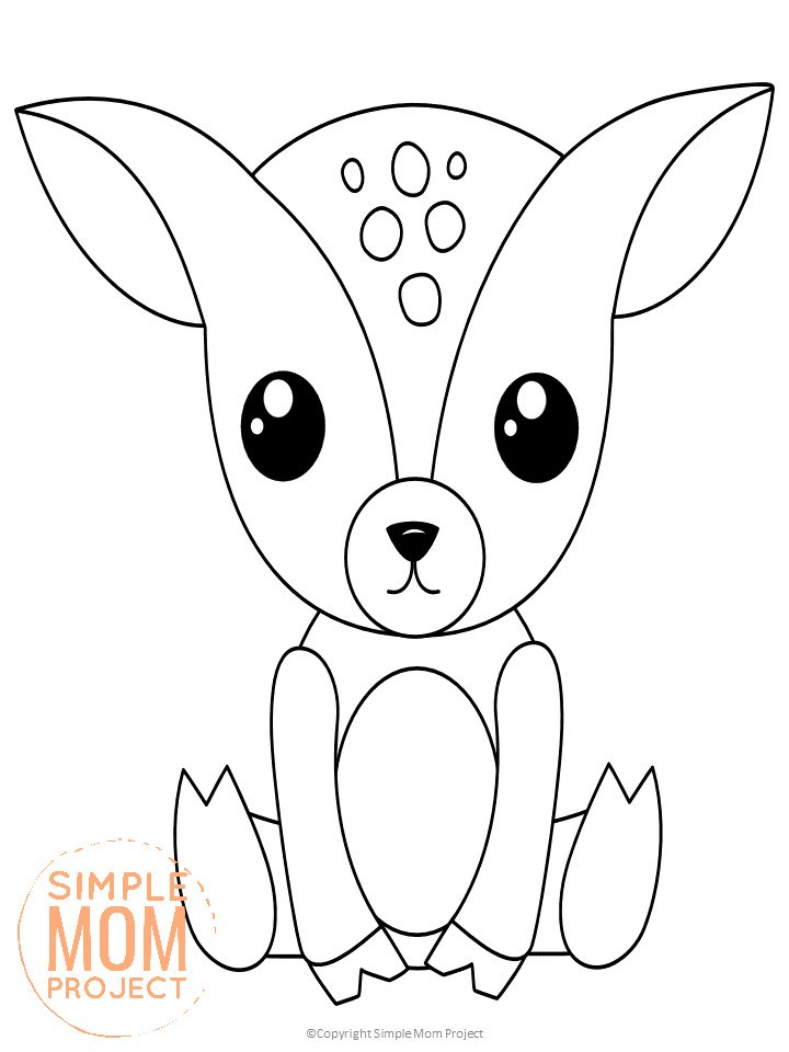 Free Printable Woodland Animal Coloring Pages Simple Mom Project