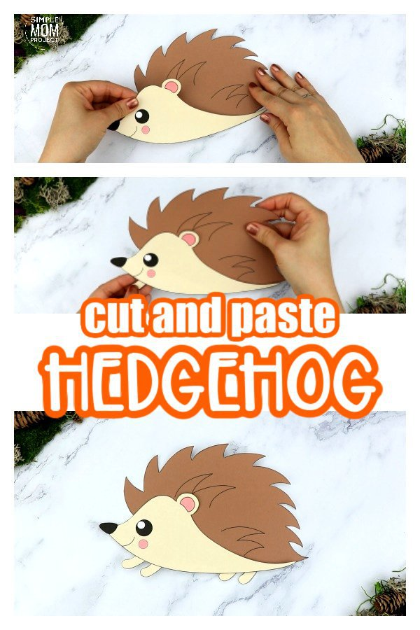 Are you looking for an easy step by step toddler activity to teach the letter H to your preschoolers? Click now to get the free printable hedgehog template to make this cute hedgehog paper craft! Spruce him up by adding autumn leaves or toothpicks. You could even glue him to a paper plate or toilet paper roll so he can easily become fall decor for your home. Kids of all ages will love making this woodland animal craft, even kindergartners and up! #hedgehog #hedgehogcrafts #woodlandanimals #woodlandanimalcrafts #fallanimalcrafts #LetterH #SimpleMomProject