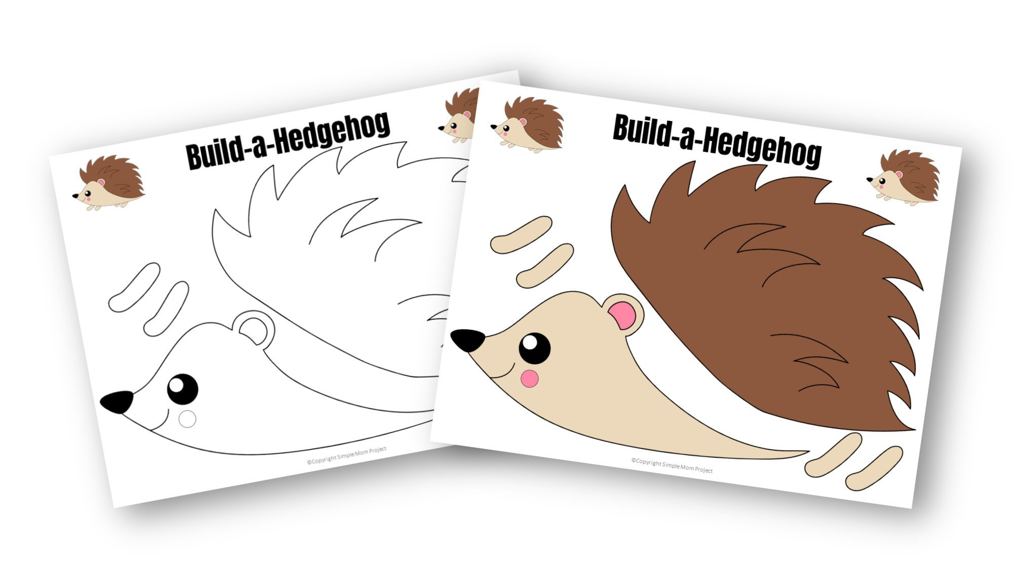 Free Printable Cut And Paste Hedgehog Craft For Kids