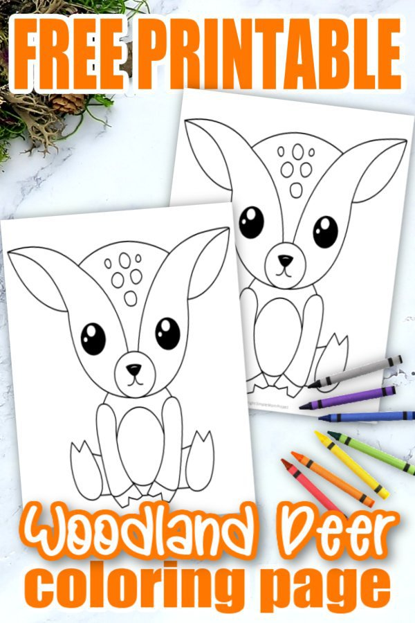 Are you looking for an easy forest deer coloring page for your kids forest themed crafts? This free printable deer coloring pattern is an ideal addition to your kids woodland Coloring books or as a simple cut out decoration for display at home. Preschoolers & toddlers love this as a special art project activity or homeschool craft class. Click here and grab your free printable deer coloring page today! #Forestanimalcoloringpages #Reindeercoloringpages #Deercoloringpages #SimpleMomProject