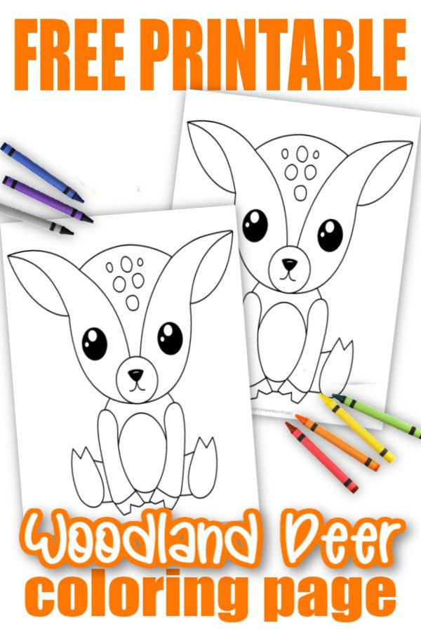 Free Printable Woodland Animal Coloring Pages - Simple Mom Project