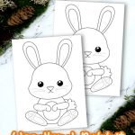 Looking for an easy and free printable rabbit coloring page for your kids? Here's a simple but very cute rabbit coloring page ready to add to your toddlers coloring book or wall art decorations. Click here to print your coloring pages as your kids create Roger, Peter, Brer, Jessica and more. Rabbit coloring pages are super popular so get yours today! #Rabbitcoloringpages #forestrabbitcoloringpages #forestanimalcoloringpages #coloringpagesforkids #SimpleMomProject