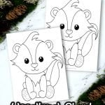Are you looking for a cute & simple forest skunk coloring page for your kids? Click now and grab your Free Printable template of this realistic striped-tail Skunk. He makes a colorful decoration for your kids bedroom or even a fun group art activity for preschoolers or toddlers. Enjoy the fun of forest crafts in your home today with the cutest of all woodland forest animals - a baby skunk! #Skunkcrafts #Skunkcoloringpages #Woodlandanimalcoloringpages #Forestanimalcoloringpages #SimpleMomProject
