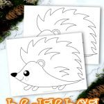 Share the magic of the forest with this easy and free printable hedgehog coloring page. This cute baby hedgehog adds so much fun to learning the Letter H in preschool, kindergarten or even homeschool. This hedgehog coloring page is also a super simple art activity for toddlers to enjoy so click here and grab your hedgehog coloring sheet today! #Hedgehogcoloringpages #Forestanimalcoloringpages #ForestHedgehogcoloringpages #SimpleMomProject