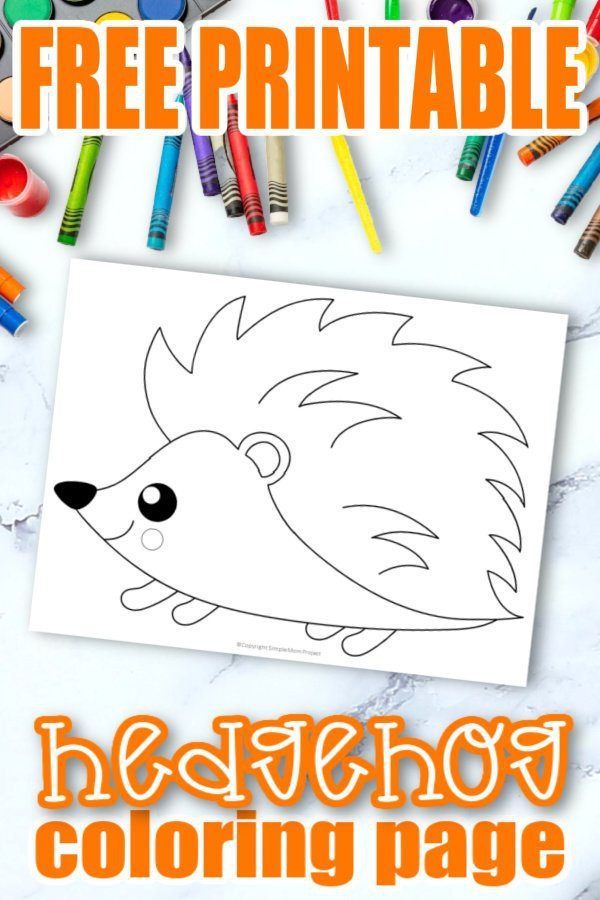 Free Printable Woodland Forest hedgehog Coloring Page for Kids Preschoolers Toddlers and kindergartners