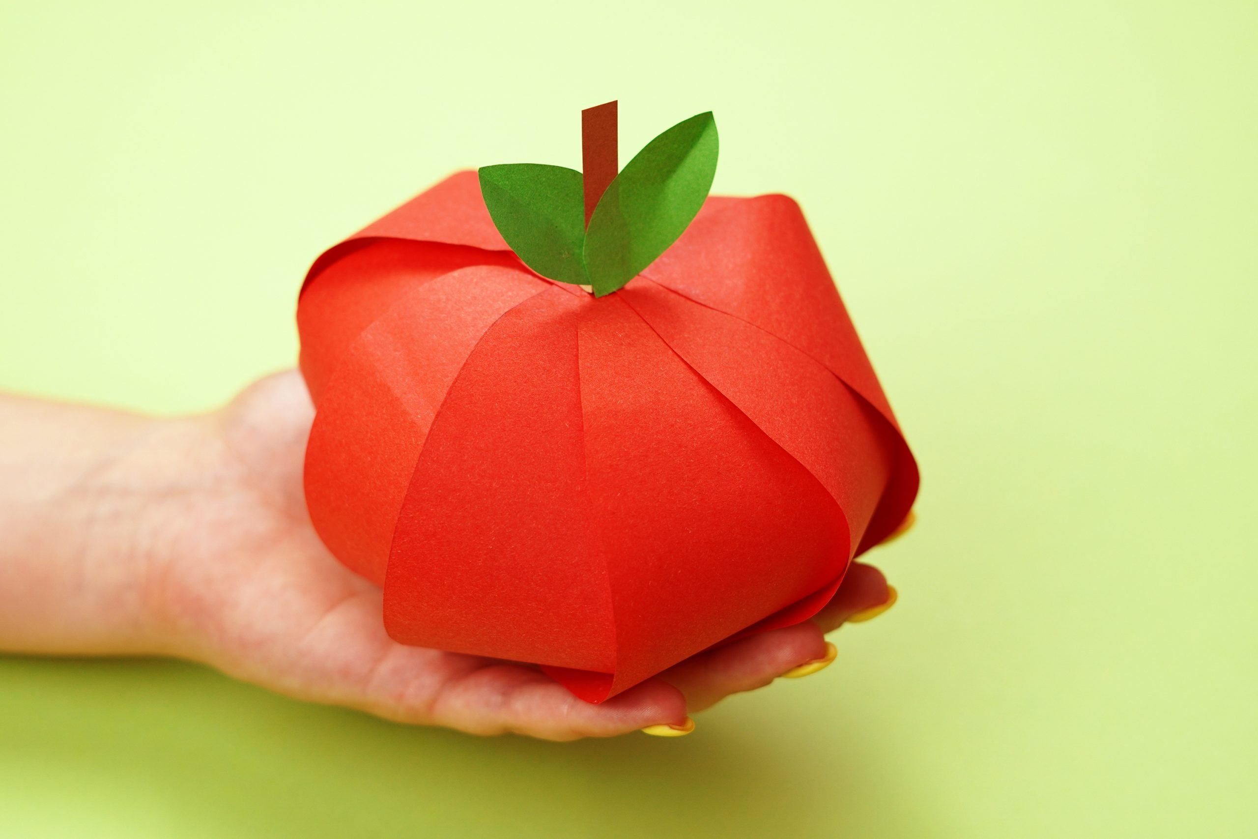 Easy Diy Paper Apple Craft For Kids Simple Mom Project