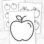Add some fun to your spring & summer crafts with this simple & free printable apple template. What a great idea for use as a stencil printable, coloring page or even a wall decoration for your room. Preschoolers & toddlers share so much fun using these apple templates as cards for their friends. Want to add a delicious looking apple template to your printables today, click here and grab your copy. #Appletemplate #Appleprintables #Summerprintables #Springprintables #Papercrafts #SimpleMomProject