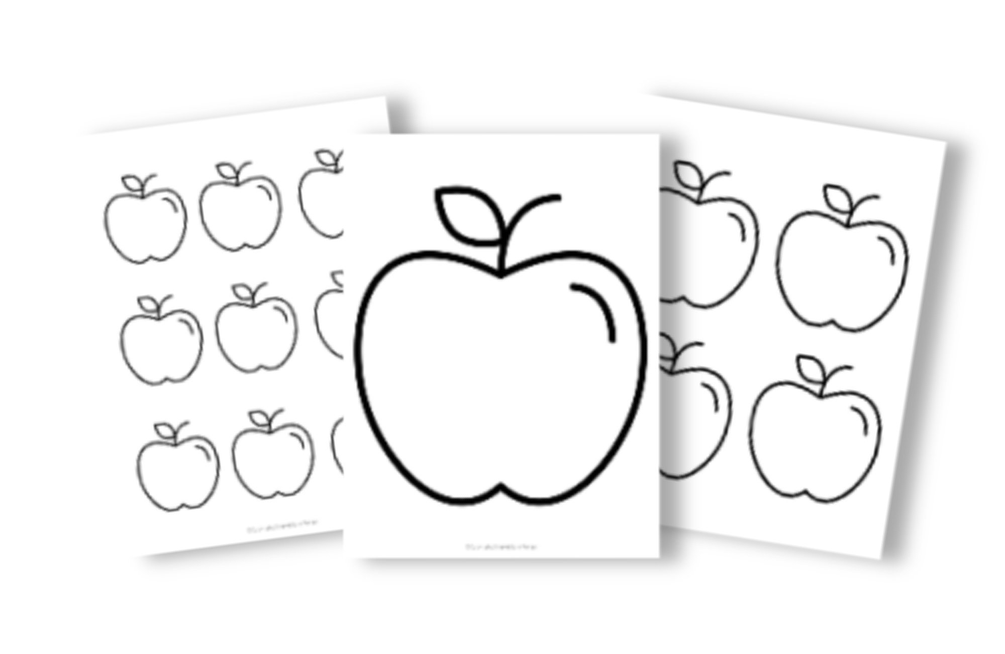 Free Printable Apple Template for Fall Crafts, Autumn Apple Crafts, Teacher Appreciation Crafts