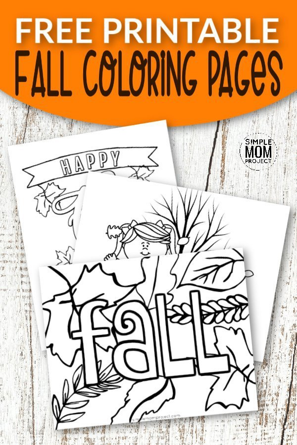 Free Printable Fall Coloring Pages - Simple Mom Project