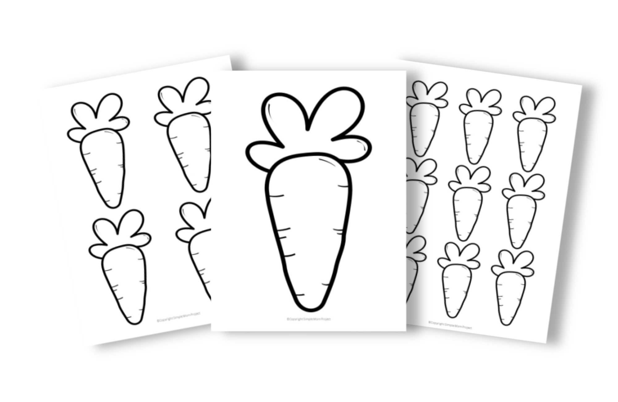 Free Printable Carrot Templates for Fall Crafts, Spring Crafts