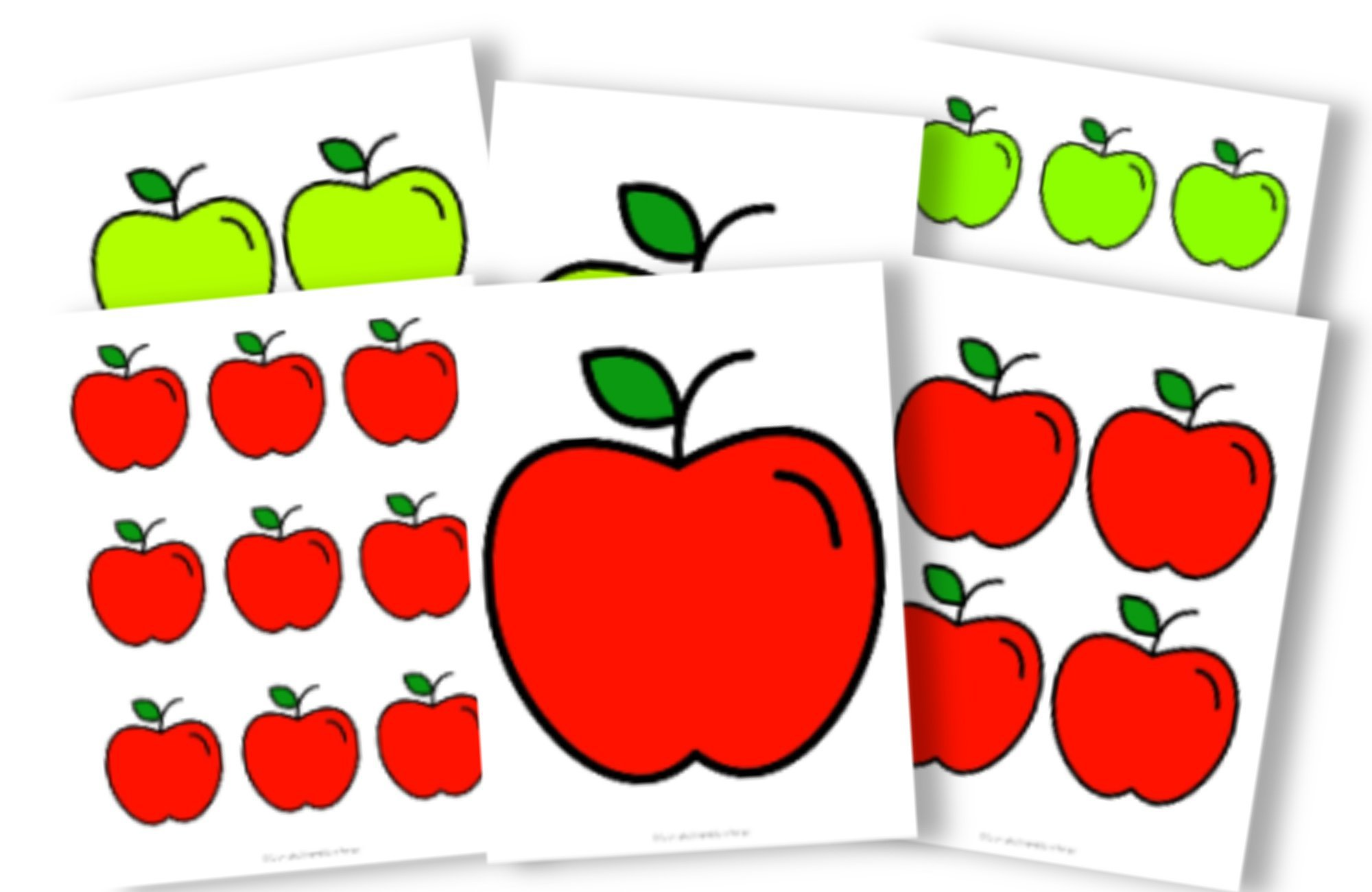 Free Printable Full Colored Apple Template for Fall Crafts, Autumn Apple Crafts, Teacher Appreciation Crafts