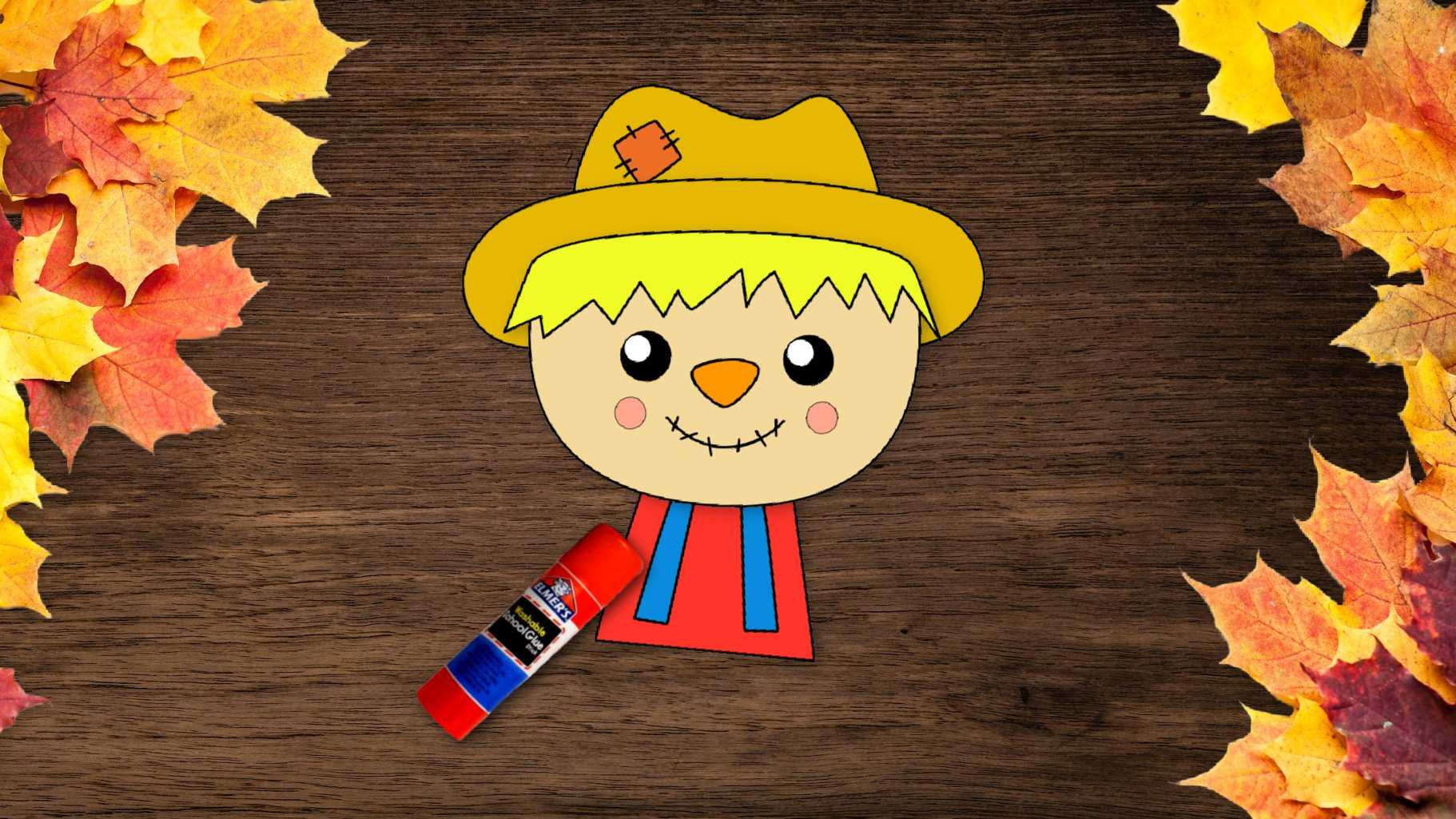 Free Printable Girl Scarecrow Craft for kids and autumn and fall crafts for preschoolers and toddlers