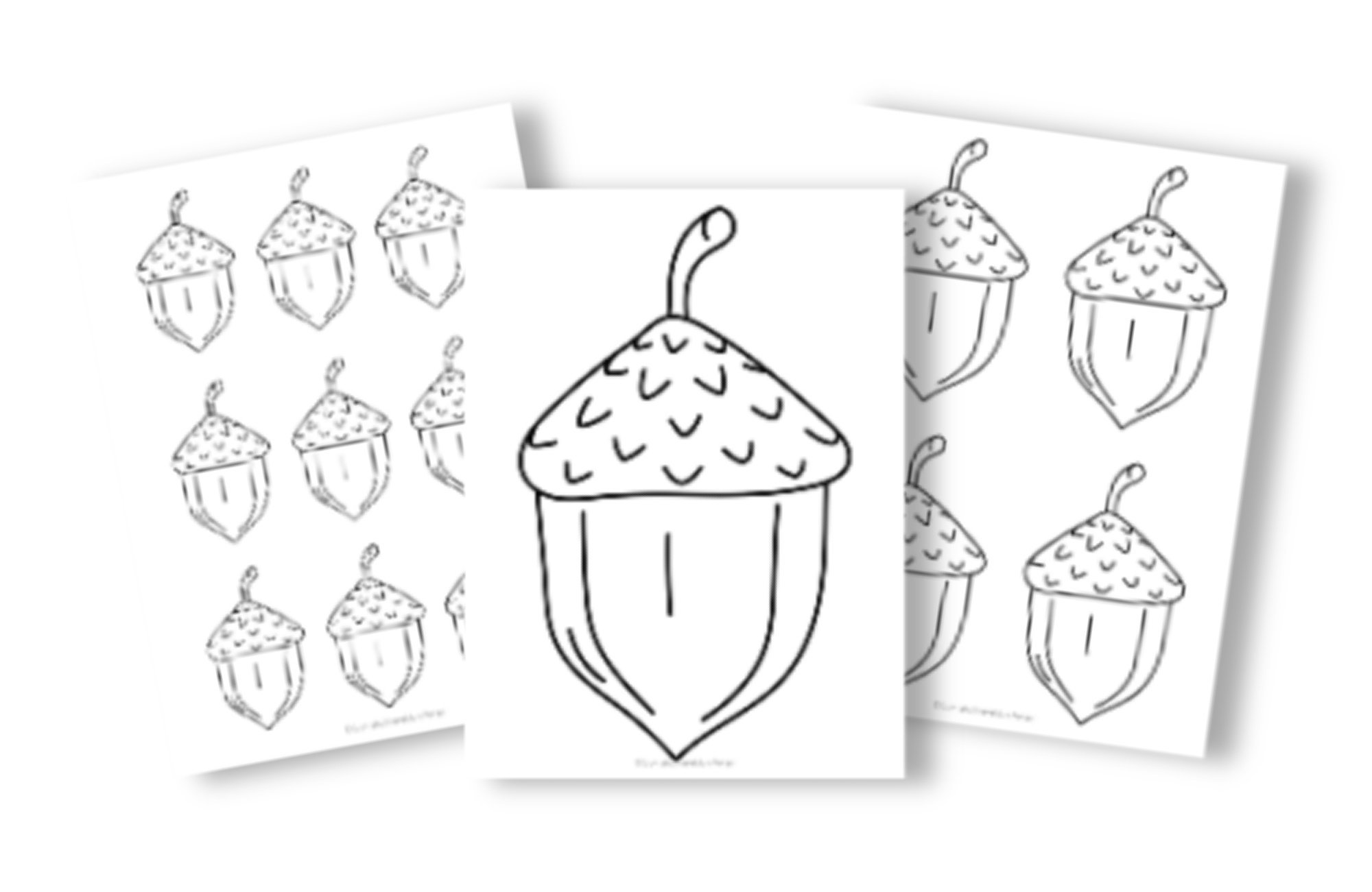 Free Printable Small Acorn Template for Fall Crafts CK