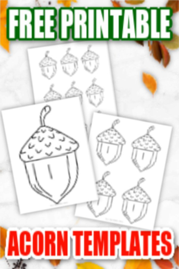 Are you looking for a large and small acorn template to add to your fall crafts? Here's a free printable Acorn design which is ideal for fun preschool art projects or homeschool coloring crafts. The acorn template makes a great addition to your forest squirrel crafts or even a fall craft stencil. Click here to grab your free Acorn template today! #Acorntemplate #Acornprintable #Fallprintables #Autumnprintables #SimpleMomProject