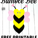 "Are you looking for a free, easy & fun bee craft for you kids? Here's the ideal way to share some love with a cute heart shaped bee craft & learn all about the Letter B at the same time! With simple step by step instructions & a free printable template, this bee craft will be a ""buzz"" to create for your toddlers, preschoolers & even the big kids! Click here & grab your free printable heart bee craft today! #beecrafts #beetemplates"