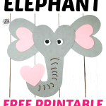 Here's a fun & very cute heart elephant craft for your kids to enjoy! Bring a touch of the jungle to your home with this easy to make heart elephant craft. Complete with a free printable paper template, this elephant craft is an ideal homeschooling activity for toddlers or an art project for preschoolers & kindergartners, they also make awesome elephant cards for birthdays or special occasions. So, click here to get your free printable heart elephant craft today! #elephantcraft #papercrafts
