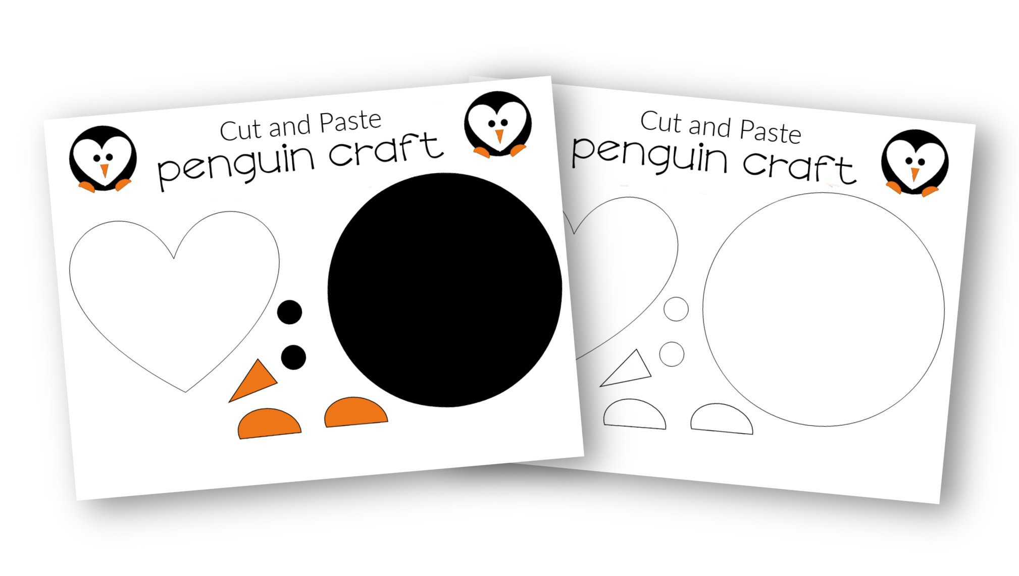 FREE and Easy Printable Diy Penguin Craft for Preschool, toddler, kindergarten