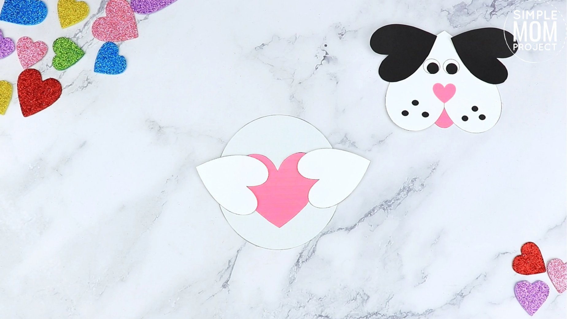 Easy Printable Diy Heart Puppy Dog Craft for Preschool, toddler, kindergarten