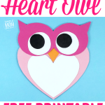 Are you looking for a free printable Heart Owl Craft for your kids to make? Here's a simple cute & paste Owl craft that's ideal as a card for special occasions or a homeschooling art project. With easy to follow step by step instructions, your kids can learn the Letter O or decorate the wall with a cute Heart Owl craft. Click here to get your Heart Owl Craft today - your toddlers, preschoolers & kindergartners will love it! #owlcrafts #heartowlcrafts