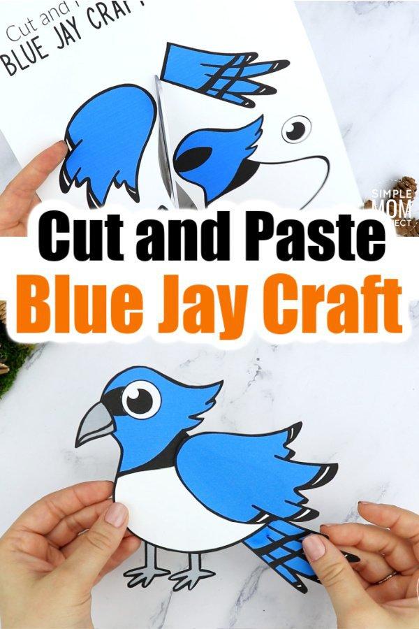 Printable Blue Jay Craft for Kids, preschoolers toddlers and kindergartners