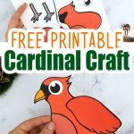 Are you looking for a fun cut & paste Cardinal craft for your kids to try? Here's a free printable paper Cardinal craft which makes a cute wall decoration or even a colorful homeschool art activity. From toddlers & preschoolers to kindergartners & even big kids - this Cardinal craft is an ideal way to share some time as a family on a cold Winter's day. Grab your free printable cut & paste Cardinal craft today! #Cardinalcraft #birdcraftsforkids