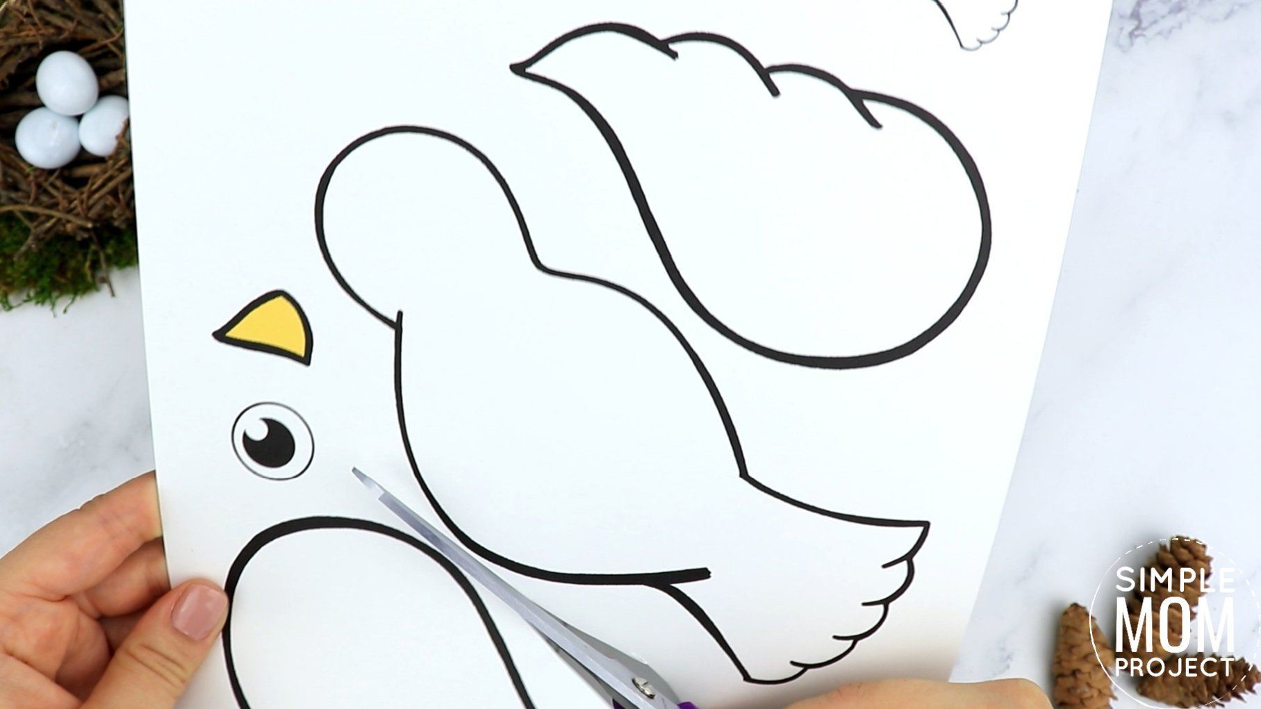 Free Printable Dove Craft for Kids, preschoolers toddlers and kindergartner