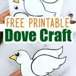 Looking for a classical & easy Dove craft which is sure to bring peace to your home? This free printable Dove craft is an ideal cut & paste activity for toddlers, preschoolers or kindergartners or even as a Sunday School art project. With easy to follow step by step instructions, your kids will turn this paper Dove template into a stunning Dove craft in no time at all, so grab your free printable Dove craft template today! #Dovecrafts #Doveprintabletemplate