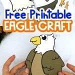 Experience the fun of watching your kids create this easy cut & paste Eagle craft. With free printable Eagle templates, here's the ideal opportunity for your kids to celebrate this beautiful American bird while learning the letter E! Whether as a preschool art project or a home family craft session, this Eagle craft can be proudly displayed as a wall or fridge decoration.Your free Eagle craft is ready to be downloaded today! #Eaglecrafts #Eaglecrafttemplates