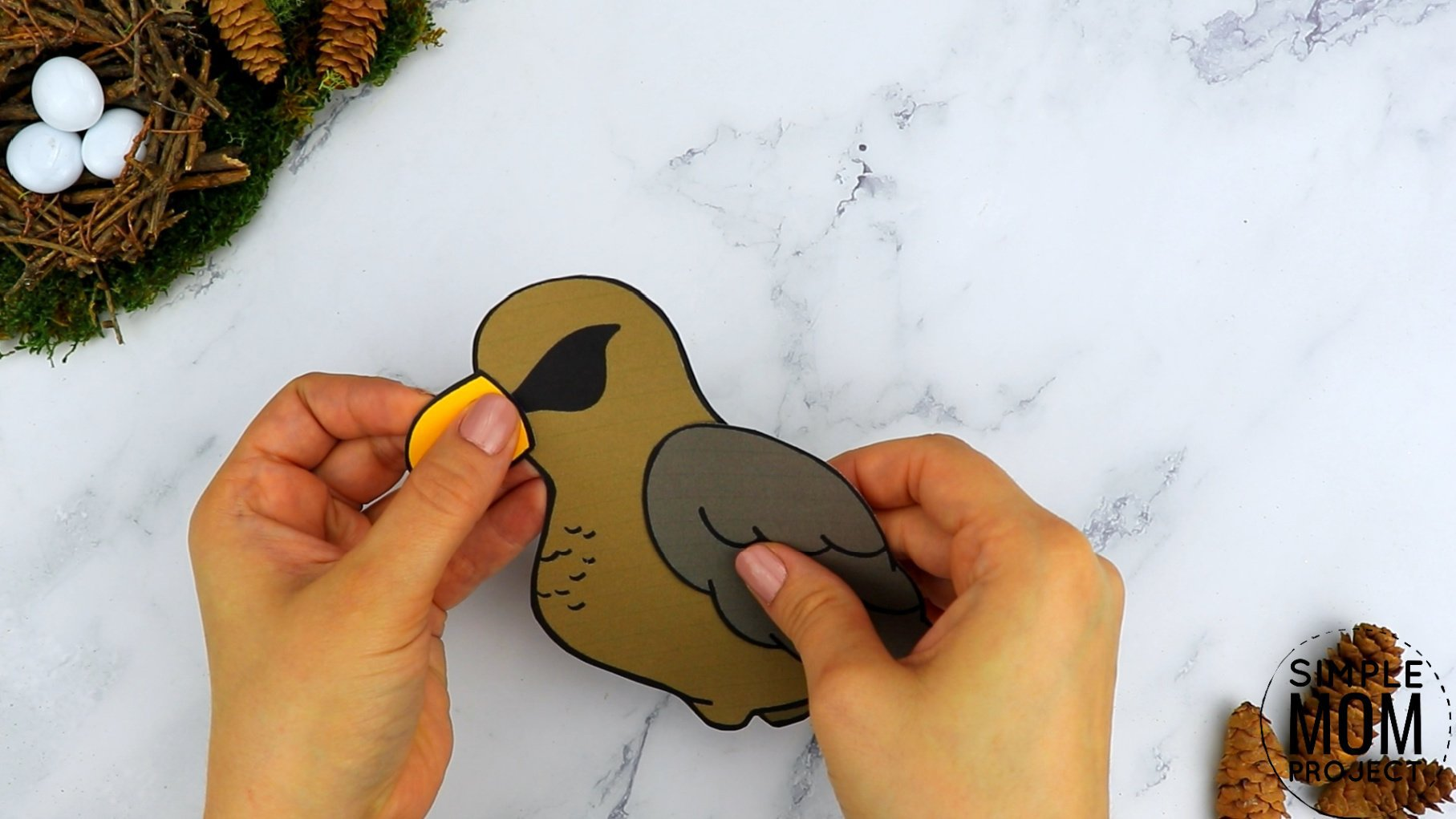 Free Printable Hawk Craft for Kids, preschoolers toddlers and kindergartners