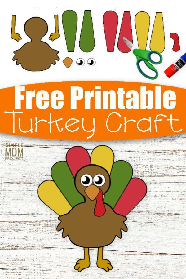 Cut and Paste crafts are awesome fun for kids to enjoy! And here's our newest cut and paste Turkey craft which is ideal for toddlers, preschoolers & kindergartners! With a free printable turkey craft template, this cut and paste craft makes a cute art project for preschool or even a craft activity for homeschoolers. So if you have big kids or little kids that love their crafts, grab this free printable cut and paste Turkey craft today! #cutandpastecrafts #turkeycrafts