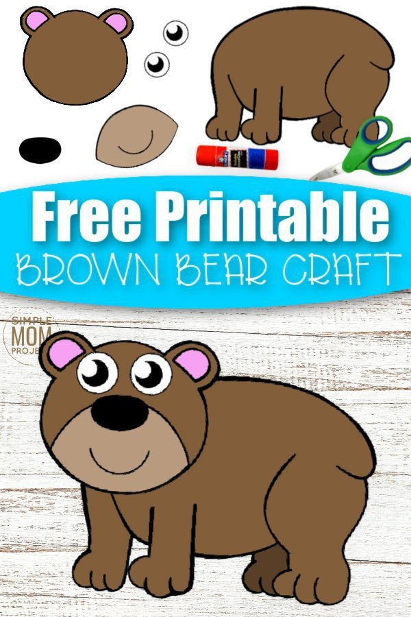 Welcome to our fun cut and paste Brown Bear craft for your kids! With cooler weather just around the corner, it's an ideal time to get some diy indoor craft activities. This cut and paste Brown Bear craft is a perfect idea for toddlers or preschoolers or even a kindergarten art project. Surprise your kids with this free printable cut and paste Brown Bear craft today. #cutandpastecrafts #BrownBearcrafts