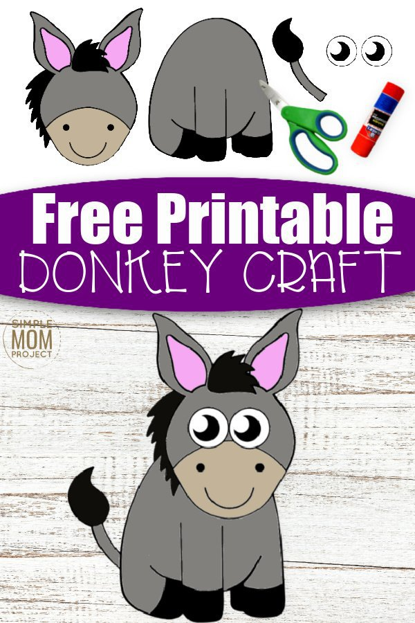 Are you looking for a fun cut and paste farm animal craft to share with your kids? Here's a cute, free printable cut and paste Donkey craft template - the ideal diy craft activity for toddlers & preschoolers. Our cut and paste Donkey craft is an inspired idea for a kindergarten paper art project or farm theme activity for homeschooling craft classes. Have some fun with this cut and paste Donkey craft, it's only a click away so grab your template today! #cutandpastecrafts #Donkeycrafts