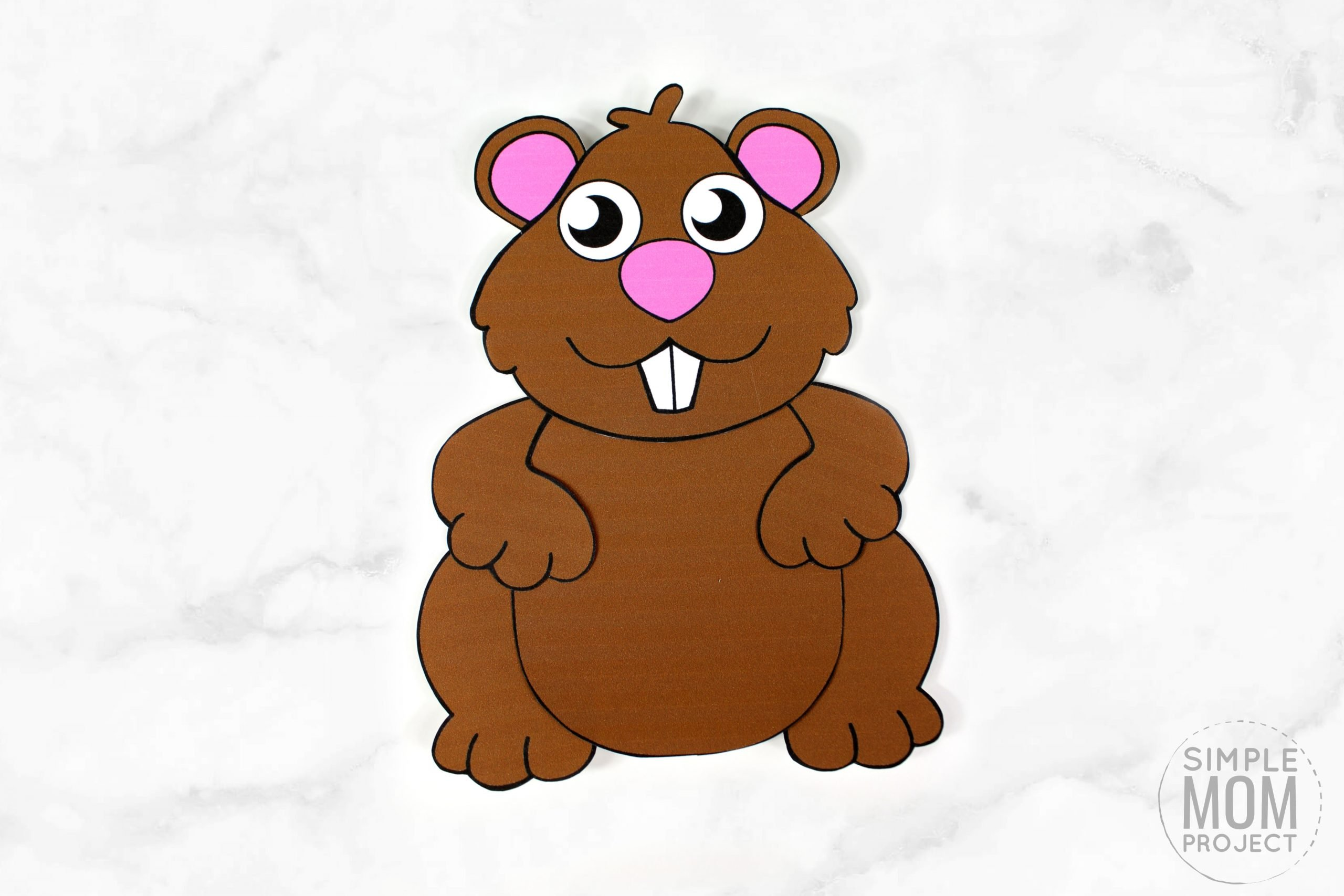 Free Printable groundhog Craft for Kids, preschoolers, toddlers and kindergartners