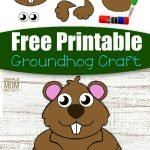 Groundhog crafts are such a fun Winter craft idea for kids to create. So this simple cut and paste Groundhog craft makes the perfect idea for the cold winters days, an art project at kindergarten or for your preschoolers & toddlers to do during homeschooling. With a free printable cut and paste Groundhog template, this easy diy paper craft is ready for you to download today! #cutandpastecrafts #Groundhogcrafts