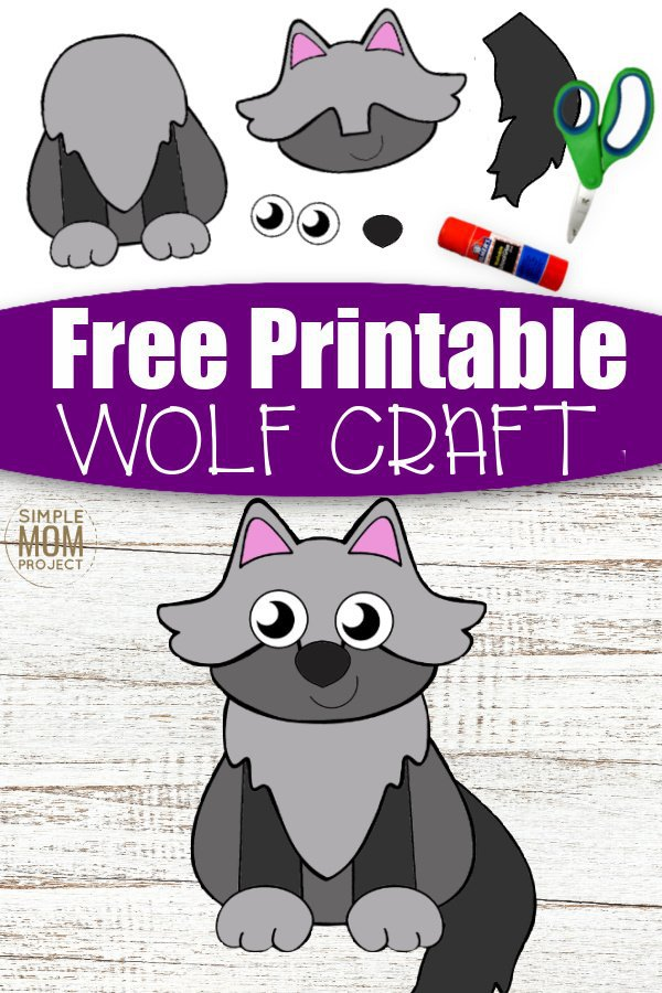 Check out this fun cut and paste Wolf craft for your kids! With free printable Wolf craft templates, this is a great idea to share with your toddlers, preschoolers or even the creative big kids. Decorate the bedroom wall with your new cut and paste Wolf crafts or take him to kindergarten as an art project activity. This is a simple diy paper craft your kids will love so grab your free printable Wolf craft template today. #cutandpastecrafts #wolfcrafts