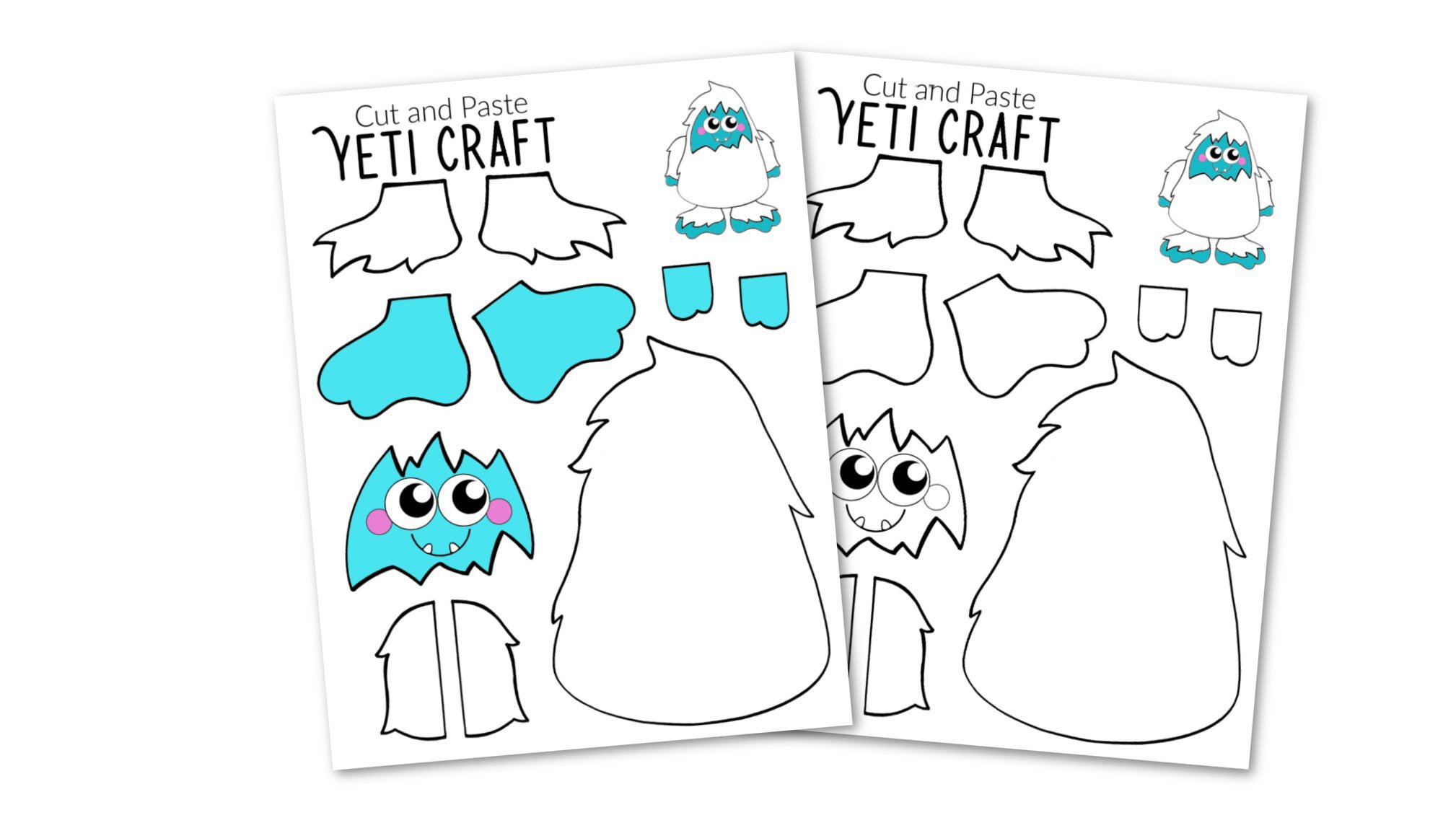 Free Printable Yeti Abominable Snowman Craft - Simple Mom ...
