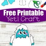 Here's a super fun cut and paste craft which is ideal for practising those scissor skills! Our free printable cut and paste Yeti craft is an ideal craft activity for the cold winter days. Whether it's for your toddlers, preschoolers, kindergartners or big kids, this simple cut and paste Yeti craft has always been a super popular paper craft in our home. So get ready for the cool months ahead with this free printable cut and paste Yeti craft template today! #cutandpastecrafts #Yeticrafts