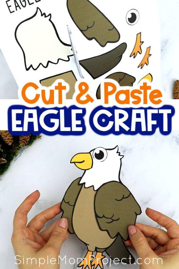 Free Printable Eagle Craft for Kids, preschoolers toddlers and kindergartners