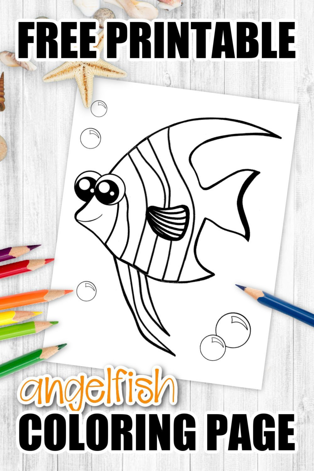 Here's a truly beautiful way for your kids to learn about the life beneath our oceans. This cute printable Angelfish coloring page is an ideal activity to learn the letter A or use as a sea themed craft for a kindergarten art project. Known for their stunning colors, this Angelfish coloring page encourages kids to express their creativity using all their favorite colors. Grab your free printable Angelfish coloring page today & watch your toddlers magically bring this ocean animal alive!