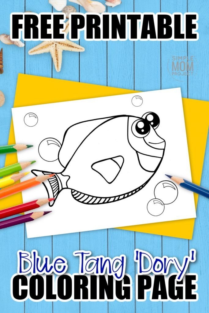 Sea themed crafts are a fun way for your kids to learn about the gorgeous ocean animals in our seas - so this cute Dory coloring page will be a friend for all preschoolers or toddlers. With such adorable eyes, these Dory coloring pages are always popular for all kindergarten art activities or even homeschool craft classes. Grab your free printable Dory coloring page today & surprise your kids with a cute Nemo for them to color - they'll love you for it!
