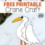 Enjoy a beautiful cut & paste Crane craft with your kids using our free printable, cut & paste Crane templates. This simple paper Crane craft is an ideal art project for toddlers or preschoolers or even a creative craft class for kindergartners. With easy to follow, step by step instructions, your kids will turn this diy paper template into a stunning Crane craft in no time at all. So grab your free printable cute & paste Crane craft today! #Cranecrafts #PaperCranecrafts