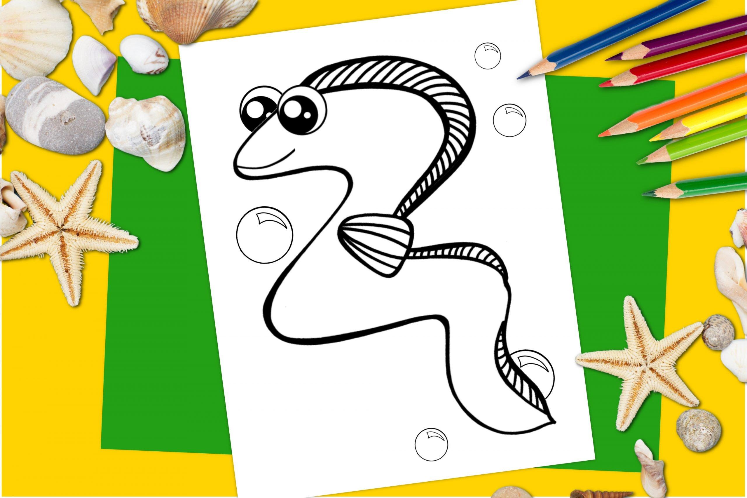 Free Printable Eel Ocean Animal Coloring Page for kids