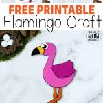 Here's a fun idea for your kids to try - This easy, cut & paste flamingo craft comes with free printable templates & makes an ideal art project for preschoolers or a diy paper craft for kindergarten kids. Why not join your kids in creating a pretty pink cut & paste flamingo craft today? #cutandpasteflamingocrafts #flamingocrafts