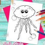 Are you and your kindergarten or preschool student going over the letter J? Instead of using jaguar, juice, jet and jacket, why not use this free printable and oh so cute jellyfish coloring page to teach this alphabet letter! Even the adults will love coloring this adorable jellyfish cartoon. Add the template to your ocean animal coloring book or hang it up on the classroom wall. Grab yours now! #jellyfishcoloringpage #oceananimalcoloringpage #SimpleMomProject