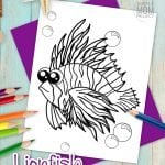 Are you a supercoloring adult or an ocean loving child? This cartoon lionfish coloring page is great for all animals lovers! Hand draw some coral reef or plants to really make this lionfish pop! When you are finished, proudly hang your new piece of art on the wall! Click now, print this ocean animal favorite and start the first page in your ocean coloring book today! #lionfishcoloring #fishcoloringpage #oceananimalcoloring #SimpleMomProject