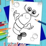 Maine lobster make really great seafood, but they also make really great coloring pages too! This free printable black and white cartoon lobster is great for kids of all ages who love all kinds of fish, crab, cray, ocean and sea animals alike. Start your ocean clipart coloring book today by printing this free lobster coloring page! #lobstercoloring #oceananimalcoloring #SimpleMomProject