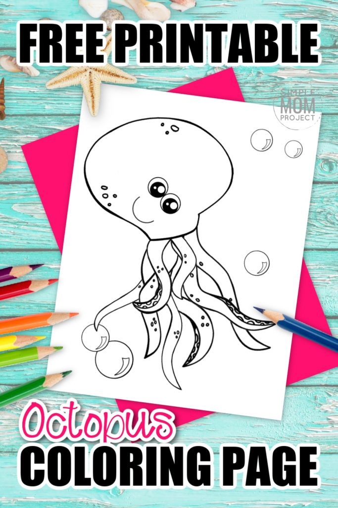 The giant squid in Octonauts is a sure reminder of how awesome squid are! So we decided to publish a free printable squid coloring page. Add this sea creature to your ocean animal coloring book today. Kids of all ages will love coloring this colossal squid, including preschoolers, kindergartners, toddlers and even adults! #SquidColoring #Oceananimalcoloring #SimpleMomProject
