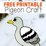 Learn how to make this simple Pigeon craft with our free printable Pigeon templates. This simple cut & paste craft is an ideal activity for toddlers, preschool kids or even for big kids. How about trying your Pigeon craft as a kindergarten art project or a homeschool creative design class? Either way, this fun diy Pigeon craft is an ideal way to share crafting time with your kids! #Pigeoncrafts #Pigeontemplates