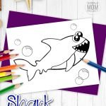 Baby shark doo doo by Pinkfong is a favorite in our house. So why not create a fun and adorable shark coloring page?! I know your kids, preschoolers, toddlers and kindergartners will love this shark. You can even encourage your kids to turn him into a hammerhead or add stripes so he becomes a tiger shark. We can't forget about the great white though! Click and download this free printable shark coloring page today! #sharkcoloringpage #oceananimalcoloring #SimpleMomProject