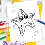 Kids love starfish. Something about this seashell ocean animal really puts a smile on any face. While this seastar is a fun cartoon template rather than a marine realistic starfish, your kids will love coloring and adding their own arts and crafts flare to this starfish outline. Get your free printable starfish coloring page now! #Starfishcoloring #seastarcoloring #SimpleMomProject
